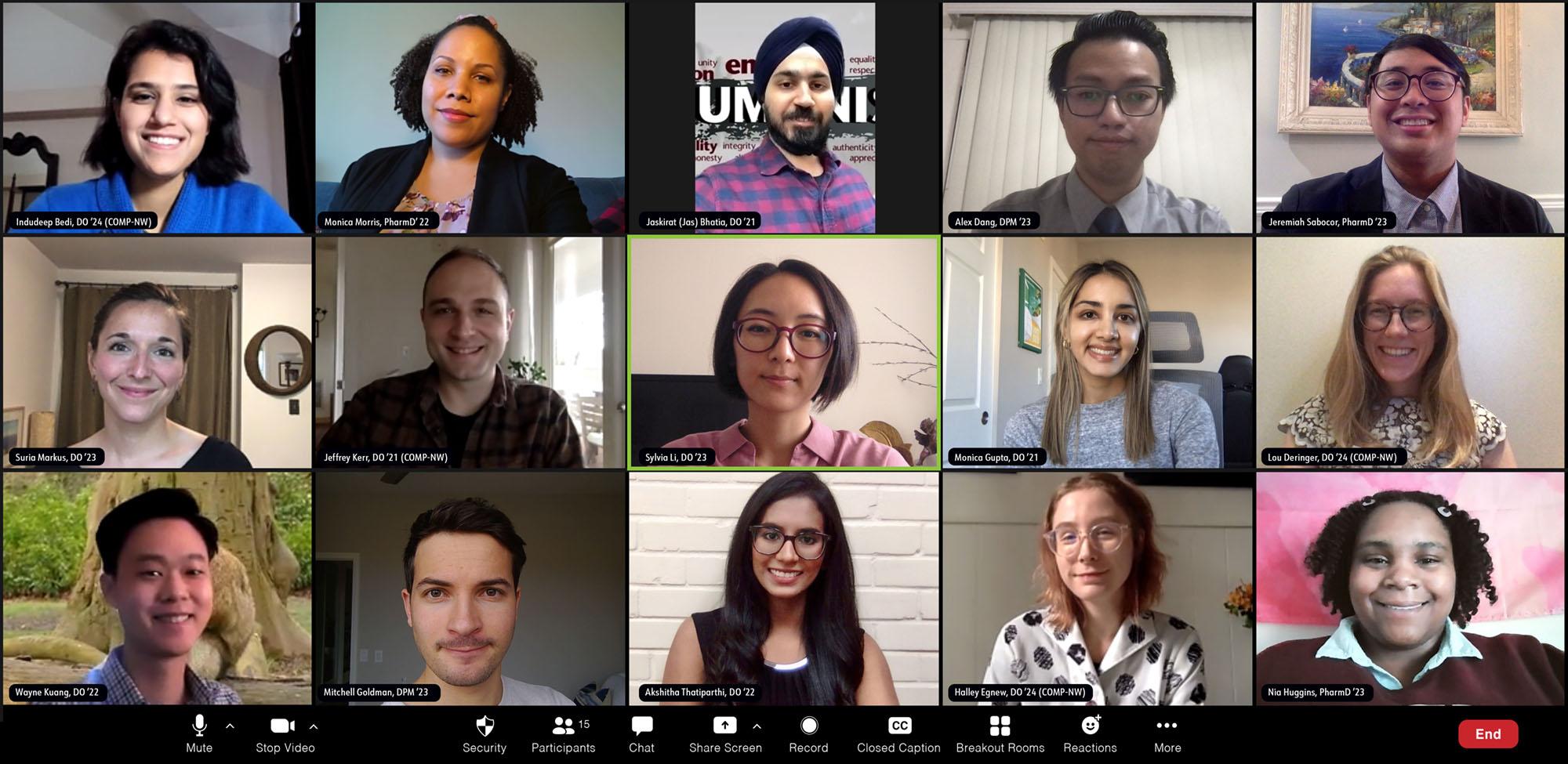 Zoom screen of Humanism Editors